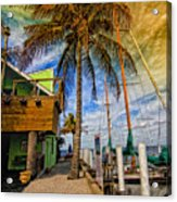 Fisherman Village Acrylic Print by Gina Cormier