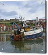 Fishing Trawler Wy 485 At Whitby Acrylic Print by Rod Johnson