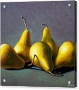 Five Golden Pears Acrylic Print by Frank Wilson