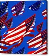 Flags American Acrylic Print by David Lee Thompson