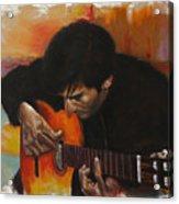 Flamenco Guitar Player Acrylic Print by Harvie Brown