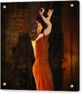 Flamenco In The Streets Acrylic Print by tim Kahane