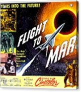 Flight To Mars, 1951 Acrylic Print by Everett