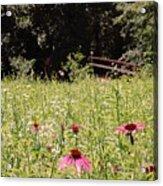 Floral Bridge Acrylic Print by Jame Hayes