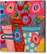 Floral Happiness Acrylic Print by John Blake