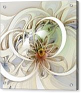 Floral Swirls Acrylic Print by Amanda Moore