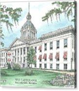 Florida Capitol 1902 Acrylic Print by Audrey Peaty