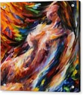 Flow Of Love Acrylic Print by Leonid Afremov