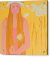 Flower Child Acrylic Print by Renee Kahn