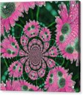 Flower Design Acrylic Print by Karol Livote