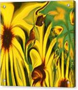 Flower Fun Acrylic Print by Linda Sannuti