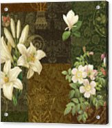 Flower Patchwork 2 Acrylic Print by JQ Licensing