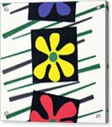 Flowers Three Acrylic Print by Teddy Campagna