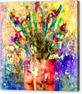 Flowery Illusion Acrylic Print by Arline Wagner