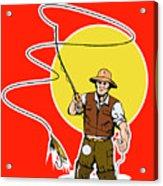 Fly Fisherman  Acrylic Print by Aloysius Patrimonio