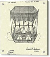 Flying Machine 1880 Patent Art Acrylic Print by Prior Art Design