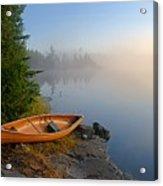 Foggy Morning On Spice Lake Acrylic Print by Larry Ricker