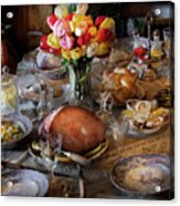 Food - Easter Dinner Acrylic Print by Mike Savad