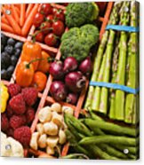 Food Compartments  Acrylic Print by Garry Gay