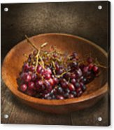 Food - Grapes - A Bowl Of Grapes  Acrylic Print by Mike Savad