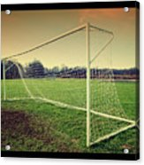 Football Goal Acrylic Print by Federico Scotto