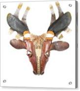 Footloose Moose Acrylic Print by Michael Jude Russo