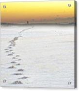 Footprints To Sunrise Acrylic Print by Vicki Jauron