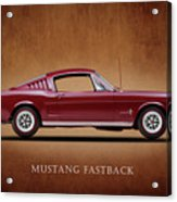 Ford Mustang Fastback 1965 Acrylic Print by Mark Rogan