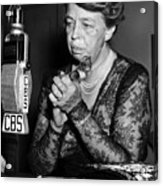 Former First Lady Eleanor Roosevelt Acrylic Print by Everett