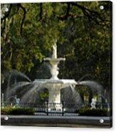 Forsyth Fountain 1858 Acrylic Print by David Lee Thompson