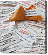 Fortune Cookie Sayings  Acrylic Print by Garry Gay