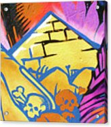 Found Graffiti 28 Cat Acrylic Print by Jera Sky