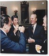 Four Presidents Nixon Reagan Ford Acrylic Print by Everett