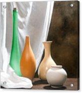 Four Vases I Acrylic Print by Tom Mc Nemar
