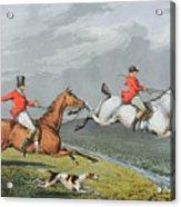 Fox Hunting - Full Cry Acrylic Print by Charles Bentley
