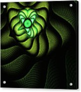 Fractal Cobra Acrylic Print by John Edwards