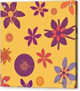 Fragrant Folly Orange Acrylic Print by Ruth Palmer
