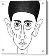 Franz Kafka Acrylic Print by Michal Boubin