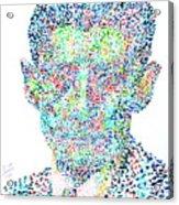 Franz Kafka Watercolor Portrait.1 Acrylic Print by Fabrizio Cassetta