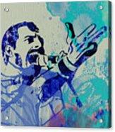 Freddie Mercury Queen Acrylic Print by Naxart Studio