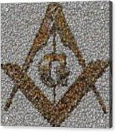 Freemason Coin Mosaic Acrylic Print by Paul Van Scott