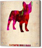 French Bulldog Poster Acrylic Print by Naxart Studio