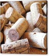 French Wine Corks Acrylic Print by Georgia Fowler
