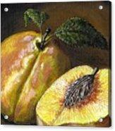 Fresh Peaches Acrylic Print by Adam Zebediah Joseph