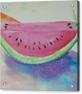 Fresh Watermelon Acrylic Print by Aldonia Bailey