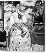 Frida Kahlo Shown With Her Painting Me Acrylic Print by Everett