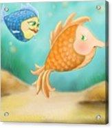 Friendship Fish Acrylic Print by Hank Nunes