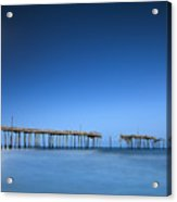 Frisco Pier Cape Hatteras Outer Banks Nc - Crossing Over Acrylic Print by Dave Allen