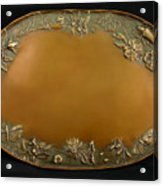 From The Foothills Bronze Tray Acrylic Print by Dawn Senior-Trask