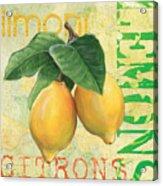Froyo Lemon Acrylic Print by Debbie DeWitt